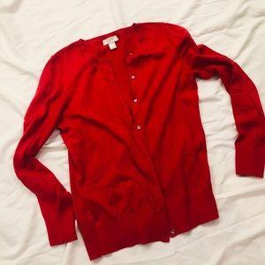 Ann Taylor Loft red cardigan size Medium